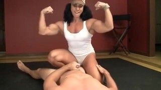 Muscle girl dildo