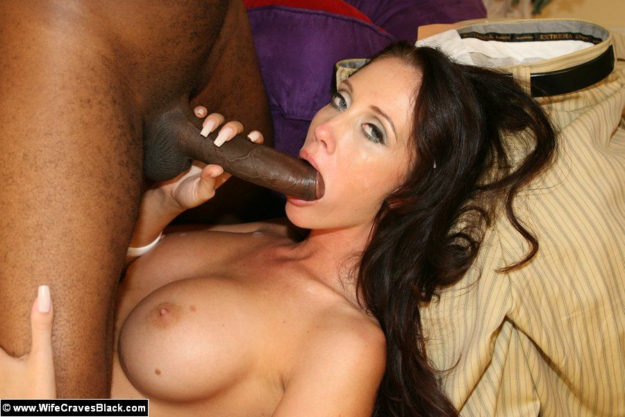 Brunette white blowjob penis and interracial