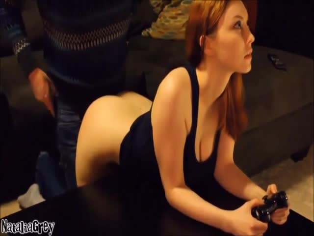 Redhead plays the game
