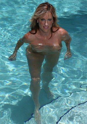 best of Pool nude milf Swimming