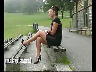 Thick granny nude legs high heels