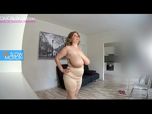 Saggy tits slow motion