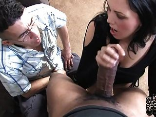 Watch wife take huge cock