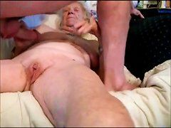 best of Granny threesome Badjojo couch
