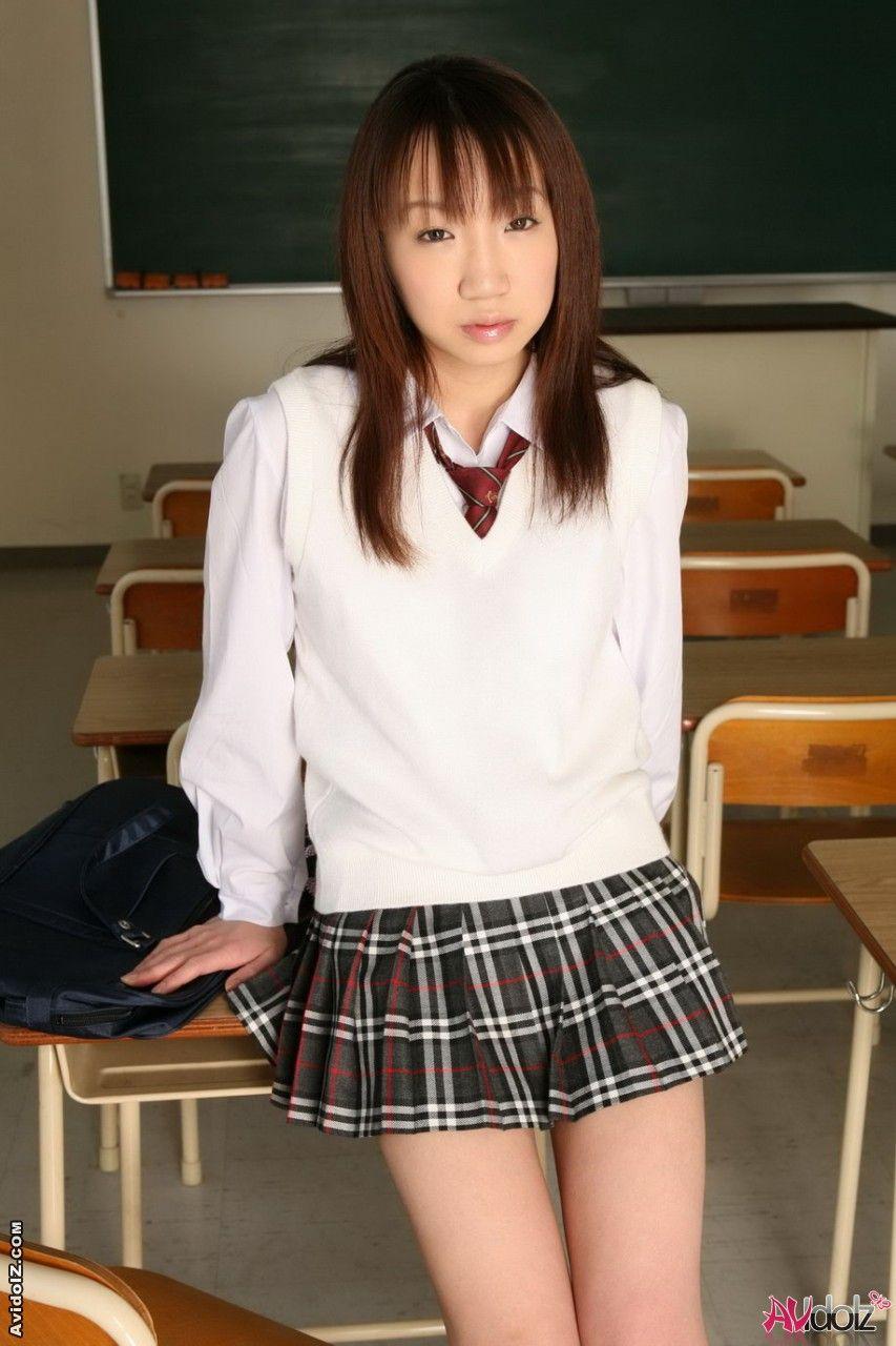 Nake asian woman in school uniforms