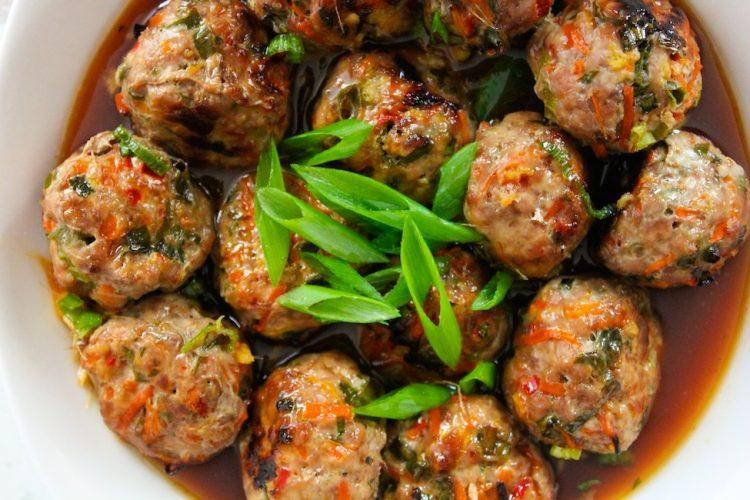 Asian chicken balls