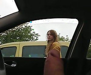 best of Flashing car dick