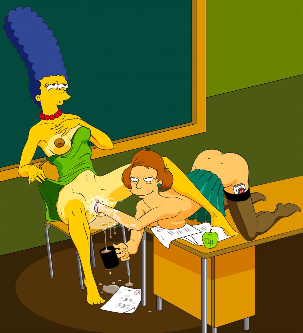 Mrs krabappel naked with dildo