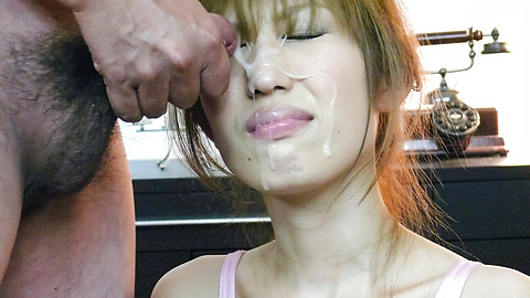 Amateur japanese blowjob cock load cumm on face
