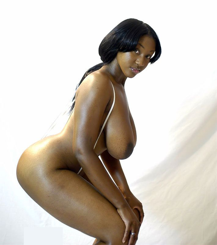 Black female natural naked big breast picture