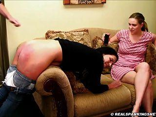 Sisters spanked