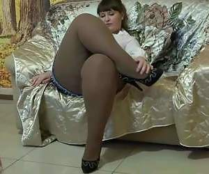 best of Thighs Housewife pantyhose down