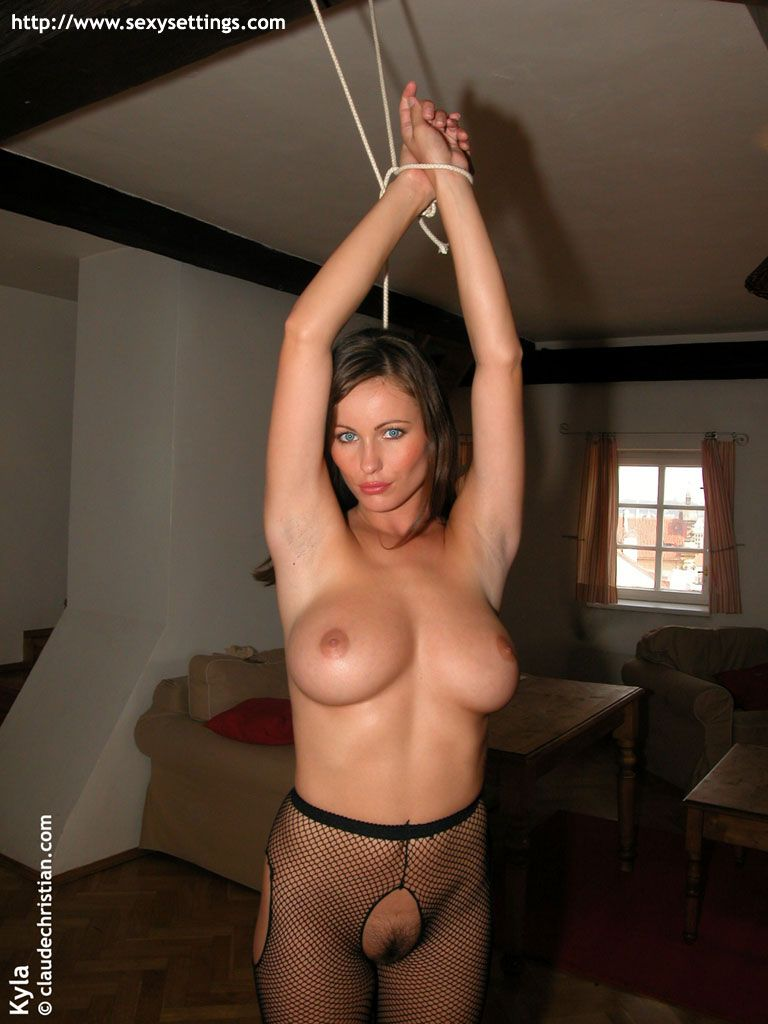 Nude bondage for miss cole