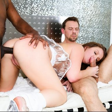 Redhead white suck penis and interracial