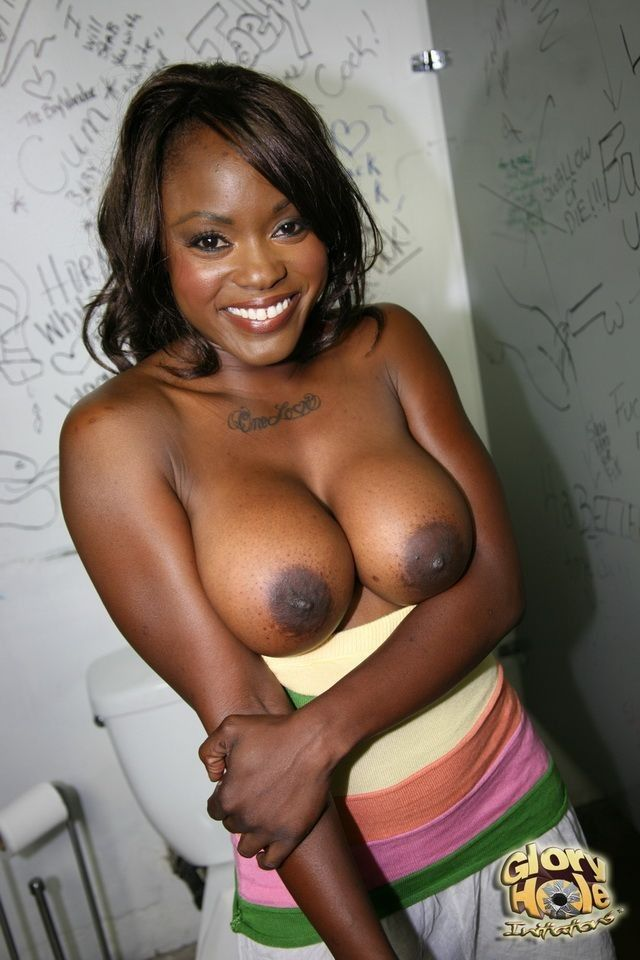 Ebony busty pinky suck