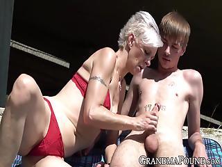 Star reccomend Badjojo granny couch threesome