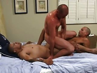 Big cock gangbang double penetration