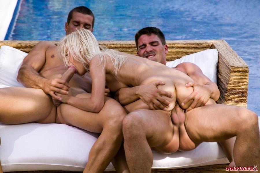 best of Pool threesome bikini