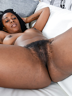 Black hairy pusy