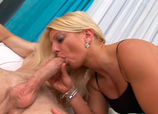 Blonde black suck dick and facial