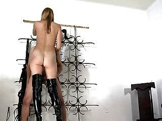 Boots leather ballbusting