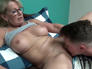 Lick in black mature pussy