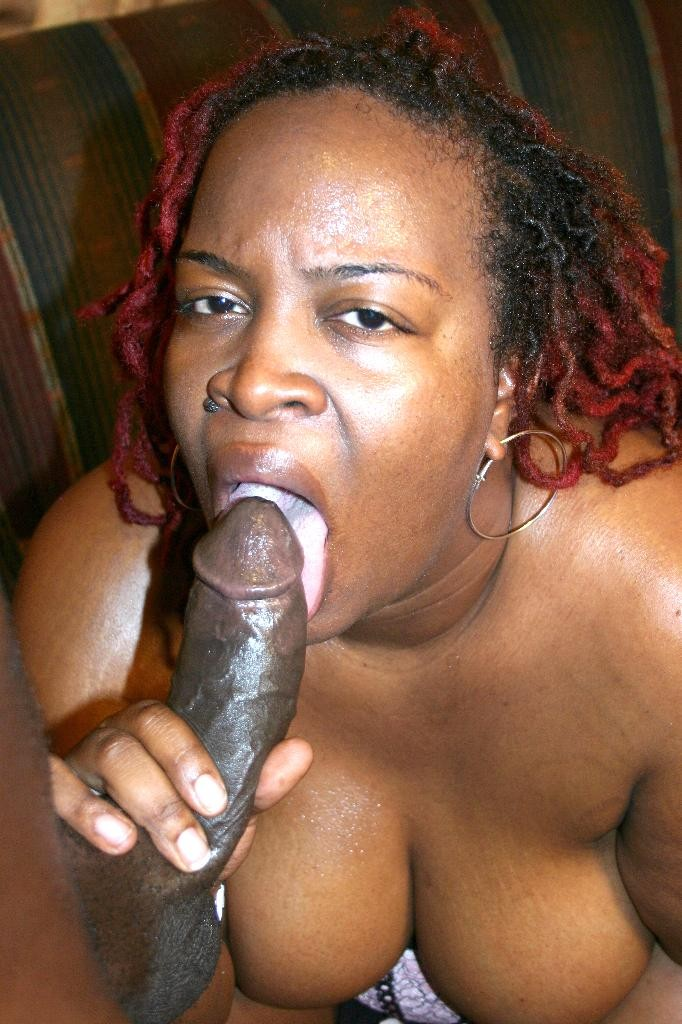Ebony bbw sucking