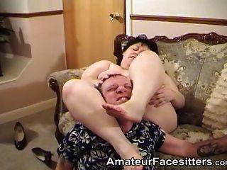 best of Femdom sitting Free face bbw