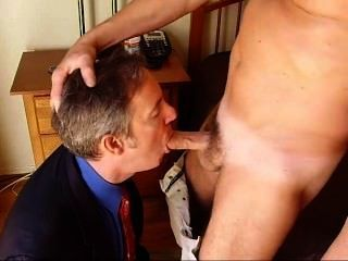 Guy sucking guy dick
