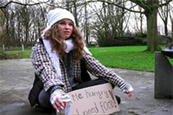 Hot homeless girl