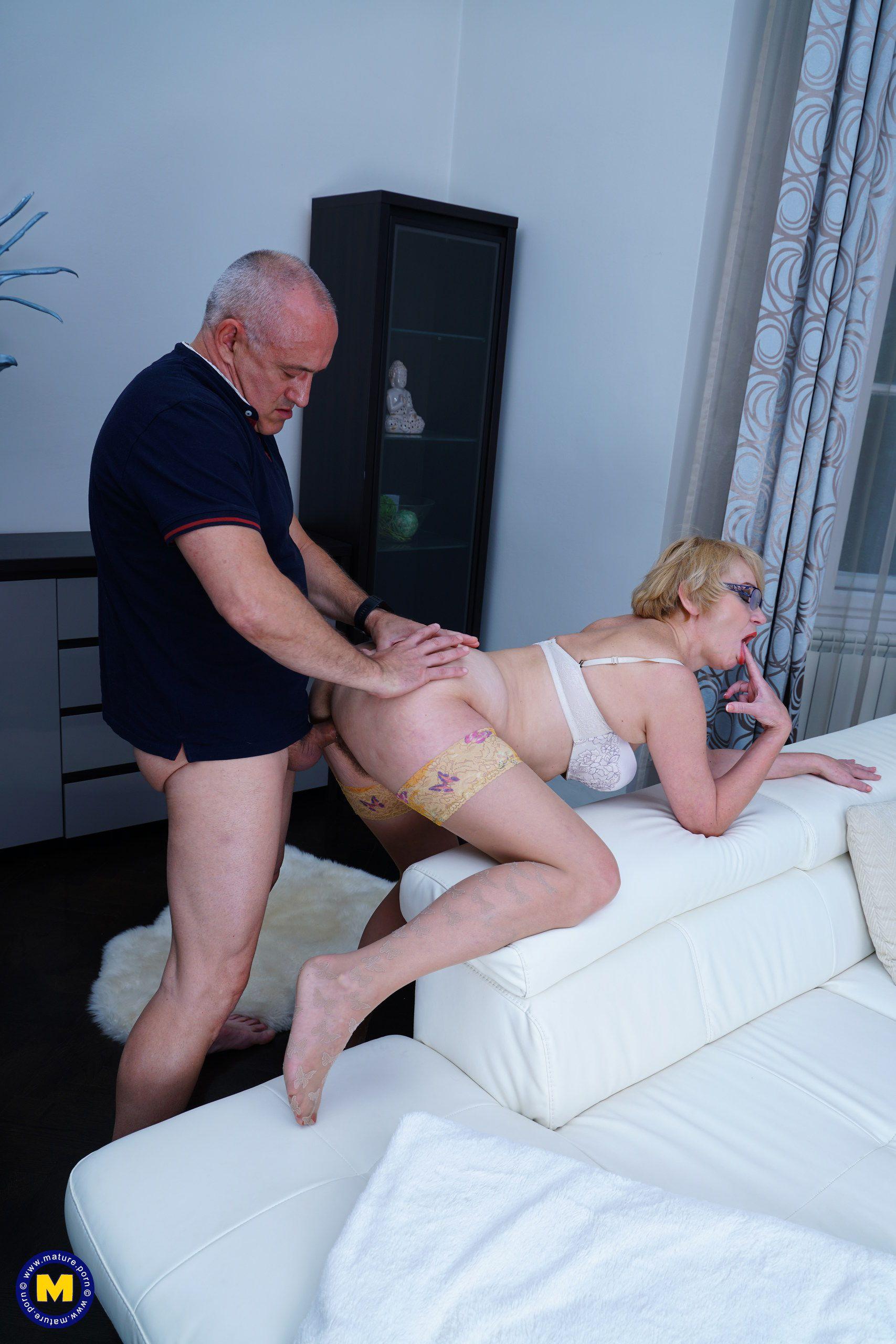 Husband tastes cock