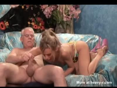 Old man deepthroat