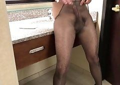 Pantyhose assholes masturbate dick and pissing