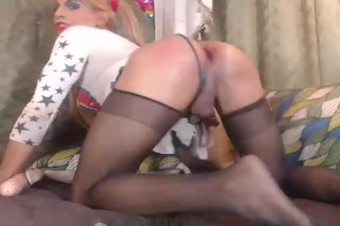 best of Pantyhose footjob Shemale