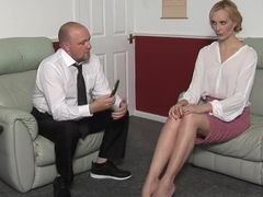 Spanking woman lick dick and interracial